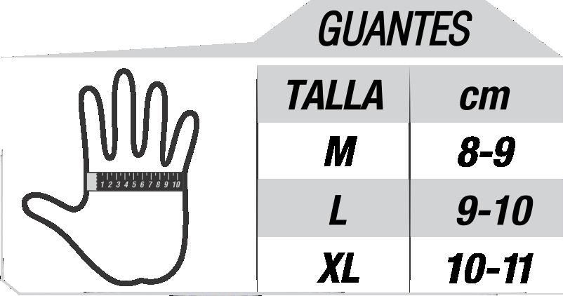 GUANTE TALLA